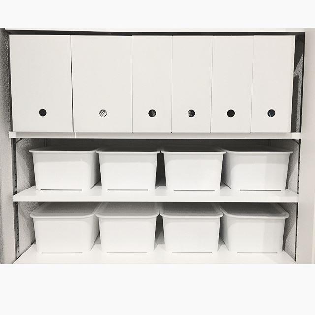 クローゼット収納 棚にぴったり収まるサイズの収納ボックスを使う4