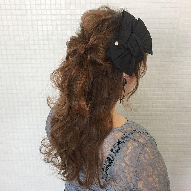 春の結婚式のお呼ばれヘアアレンジ4