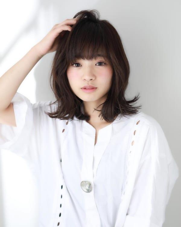 ぱっつんボブ パーマ11