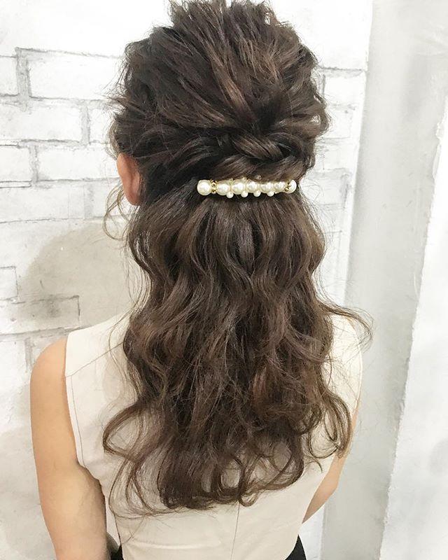 春の結婚式のお呼ばれヘアアレンジ7