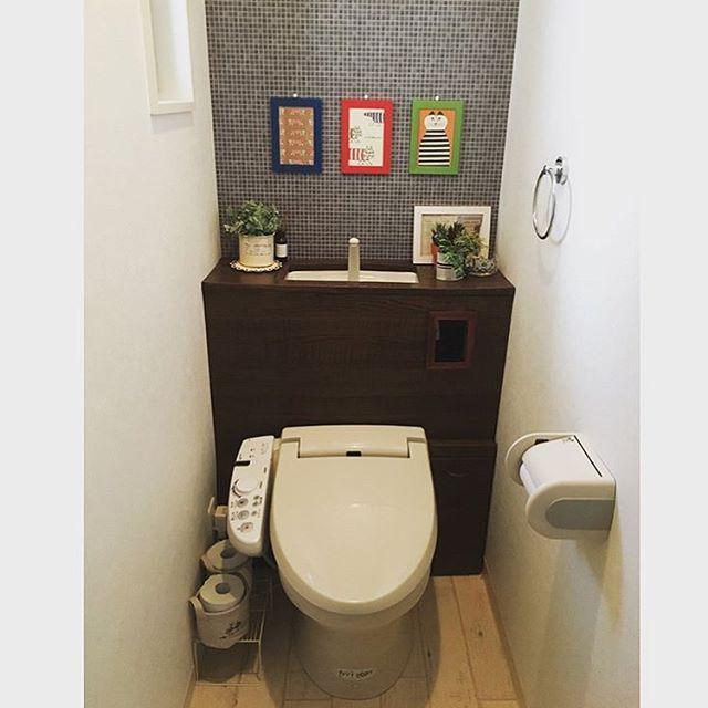 トイレにグリーンをおしゃれに飾ろう!7
