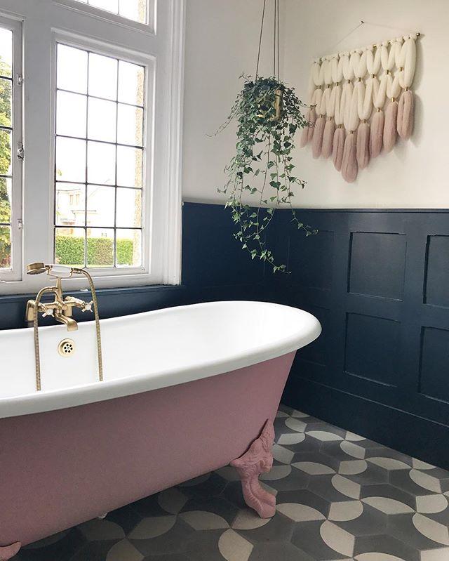 大人かわいいインテリア バスルーム ピンク