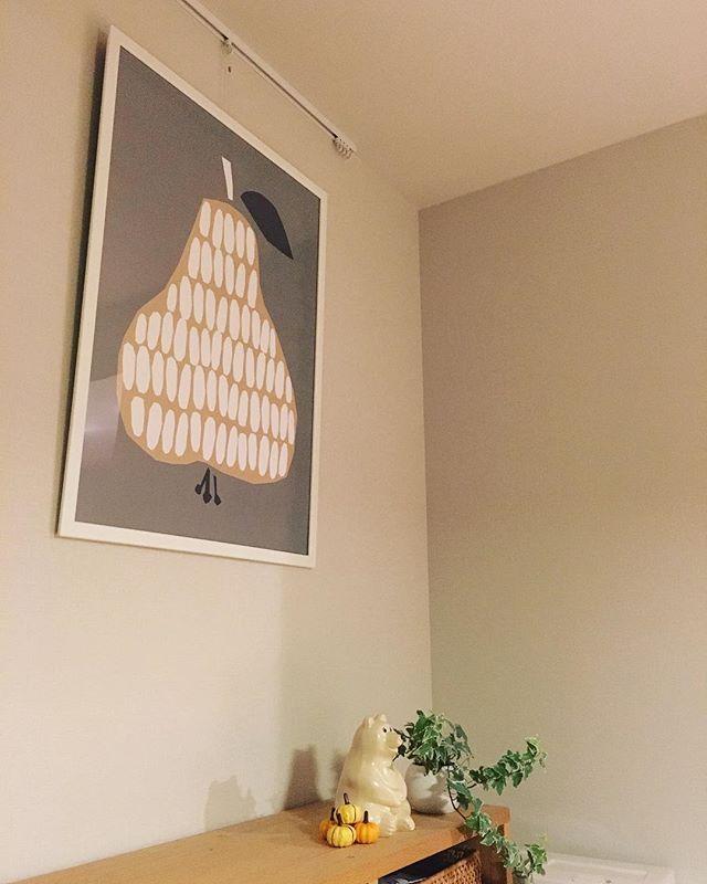 北欧テイストの洋梨ポスター