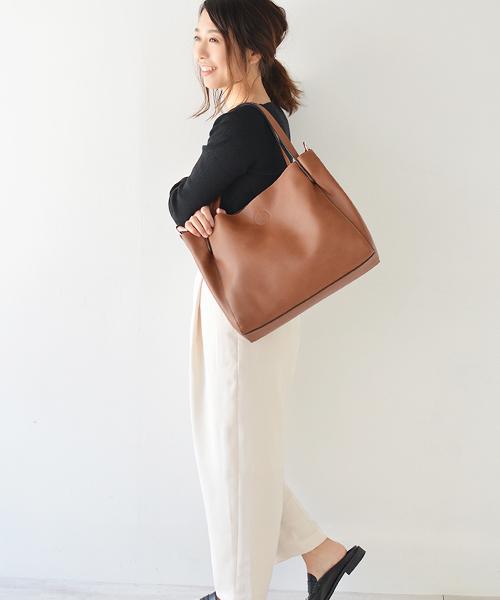 [VitaFelice] A4サイズ収納可 花柄インナーバッグ付き2wayトートバッグ・ショルダーバッグ