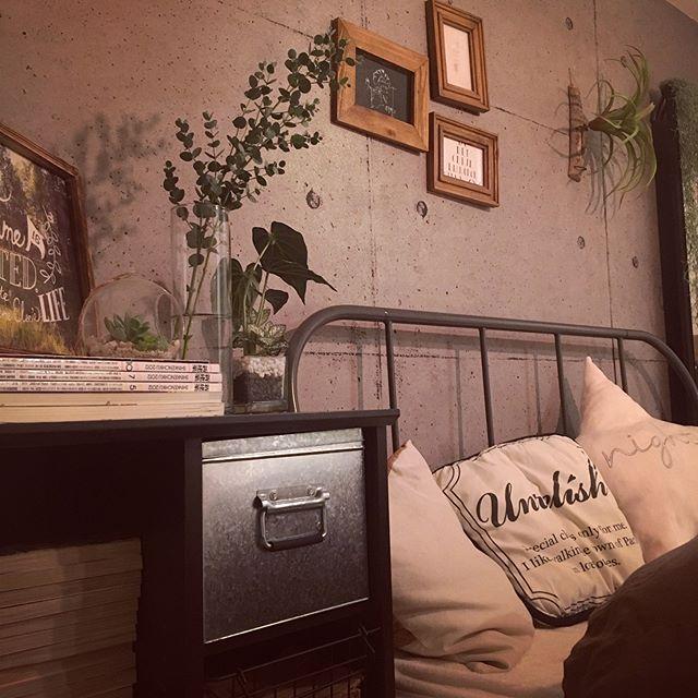 男前インテリア寝室2