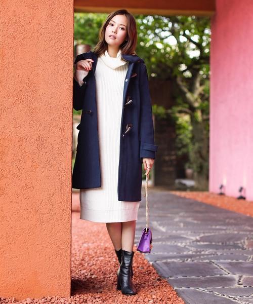 [Social GIRL] ミドル丈ダッフルコート2