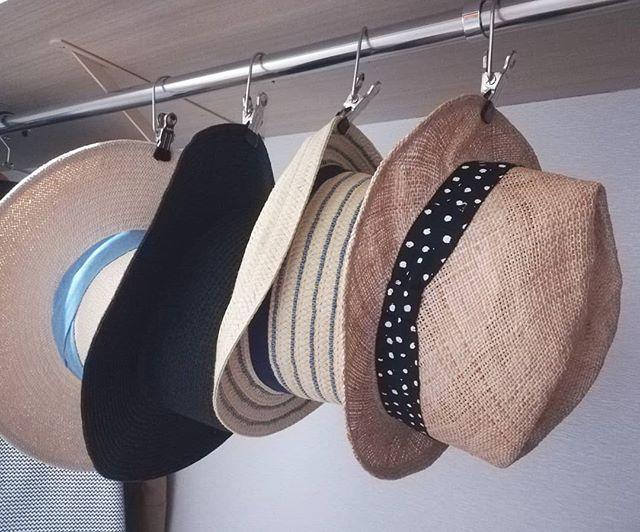 帽子はクリップで
