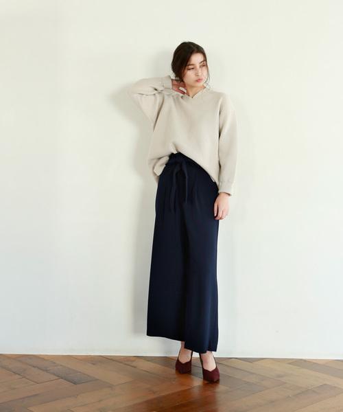 [marjour] COLOR WIDE PANTS