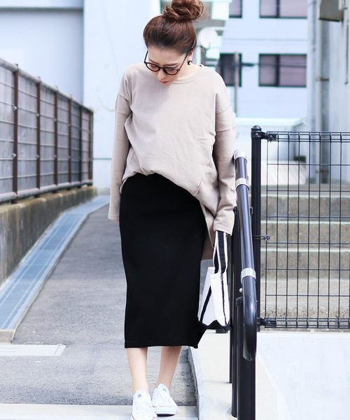 [reca] オシャレの鉄板!!◇リブニット ウエストゴムタイトスカート