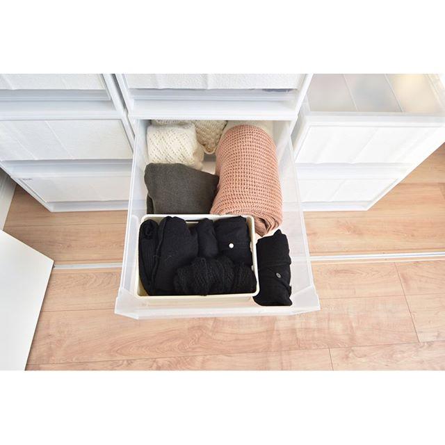 引き出し収納で《冬用ファッション小物》をすっきり整理!2
