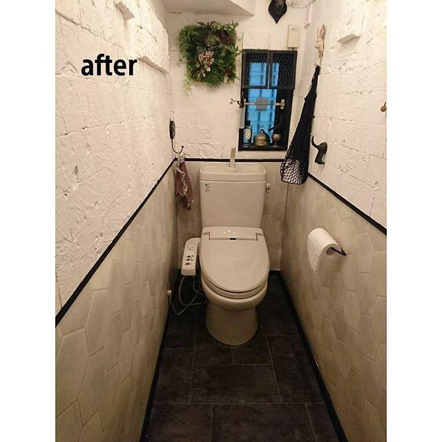 タイル トイレ