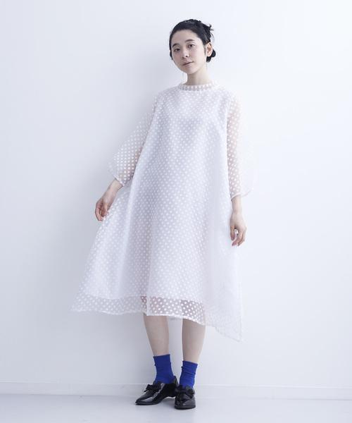 [merlot] シースルードットワンピース6171