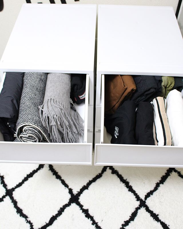 引き出し収納で《冬用ファッション小物》をすっきり整理!