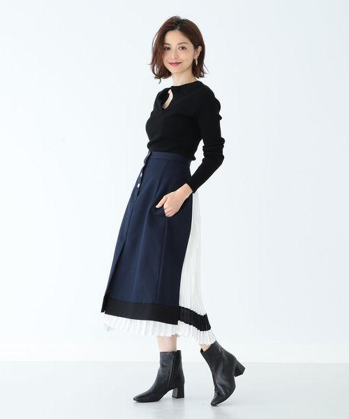 [BEAMS WOMEN] CINOH / バックプリーツスカート