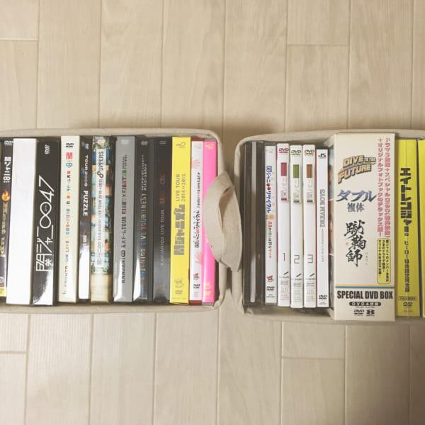 ダイソー ストレージボックス DVD収納