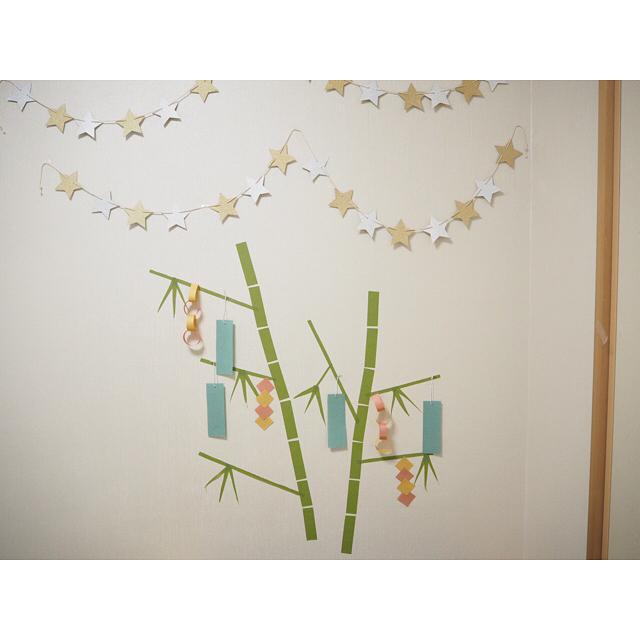 マスキングテープで壁を飾る2