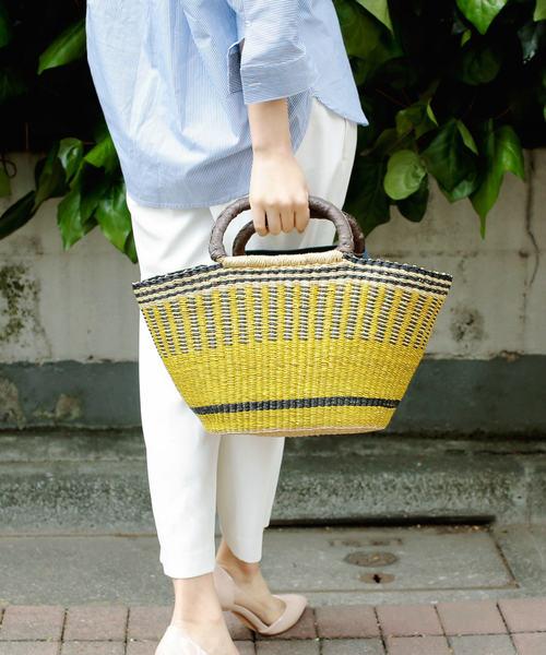 [UNBILLION] カカトゥ kakatoo / ブルキナファソ製水草カゴバッグ