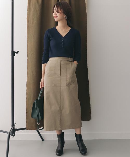 [URBAN RESEARCH DOORS] ベルト付きタイトスカート