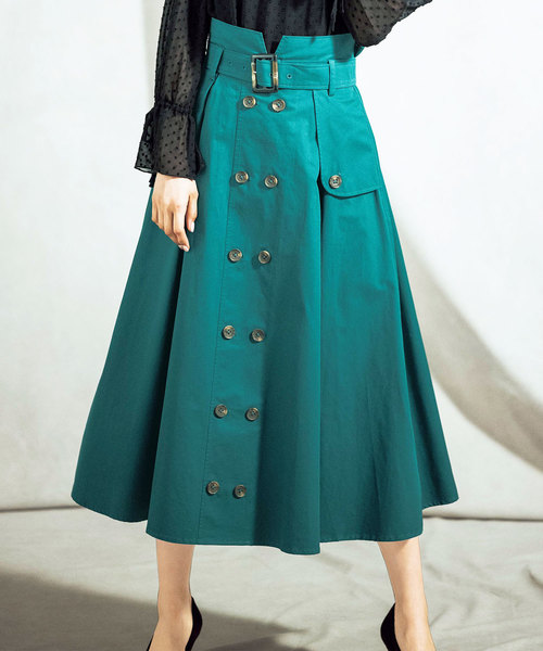 上品デザイントレンチスカート