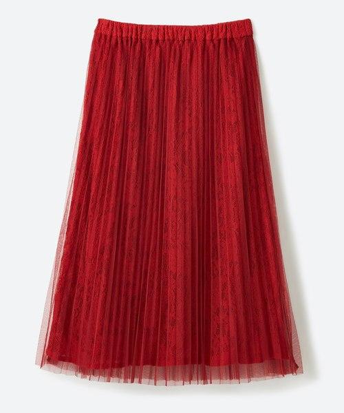 プリーツチュール&レーススカート
