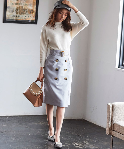 [31 Sons de mode] スウェードタイトスカート