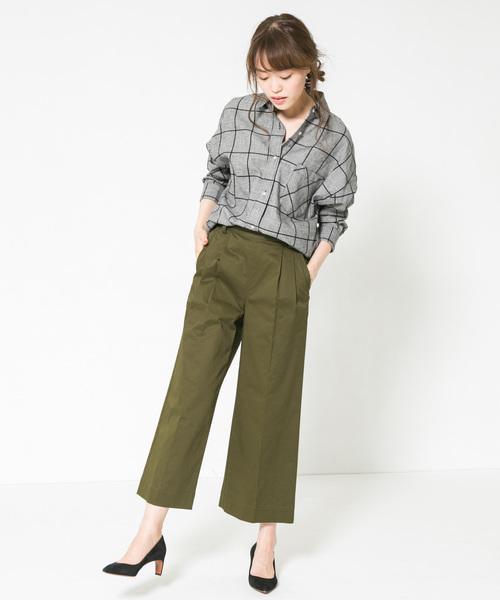 [URBAN RESEARCH ROSSO WOMEN] F by ROSSO ビッグチェックシャツ