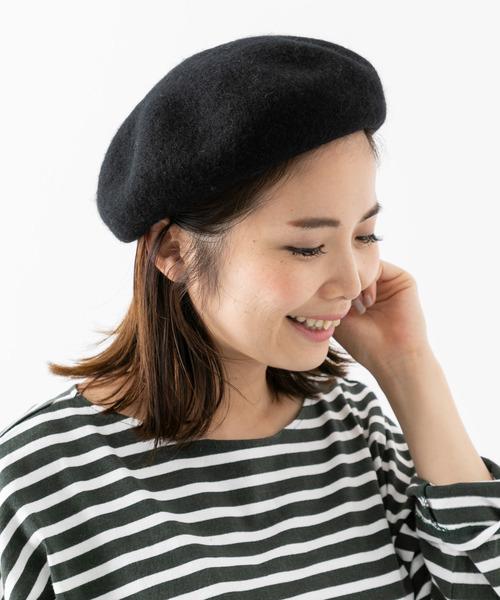 [URBAN RESEARCH] リブ付きウールベレー帽