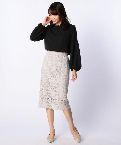 [NOLLEY'S] コードレースロングスカート