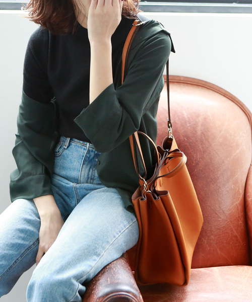 [marjour] ECO LEATHER TOTE BAG