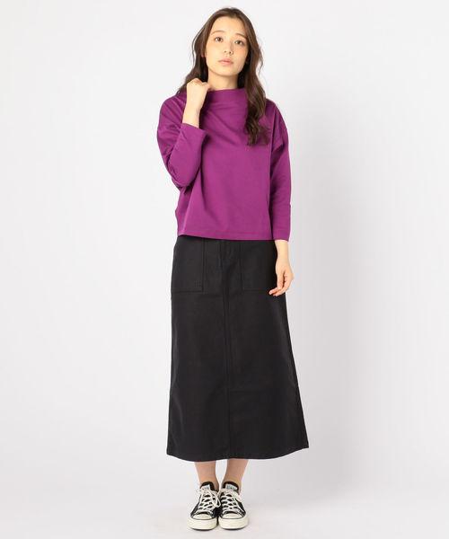 [SHIPS for women] Urvin:ベイカーロングスカート
