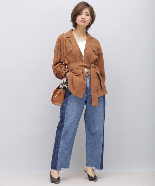 [nano・universe] 【WEB限定】袖ギャザーM65ジャケット