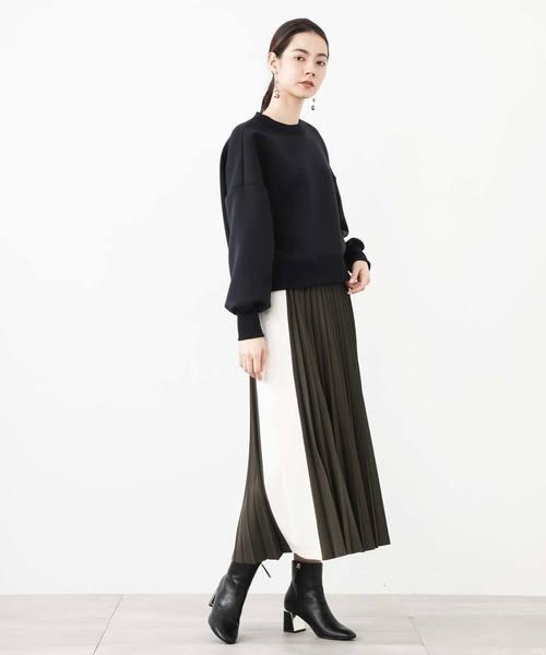 [STUDIOUS WOMENS] 【WRAPINKNOT】別注WKサイドラインTプリーツスカート