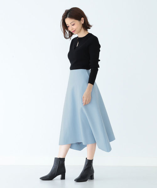 [BEAMS WOMEN] 【CLASSY.11月号掲載】Demi-Luxe BEAMS / 圧縮ウール天竺 スカート