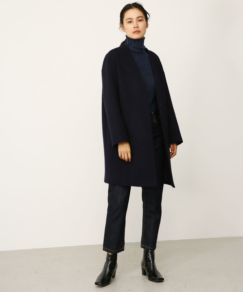 no collar wool coat