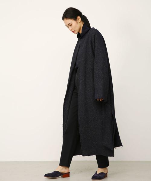 crewneck long coat