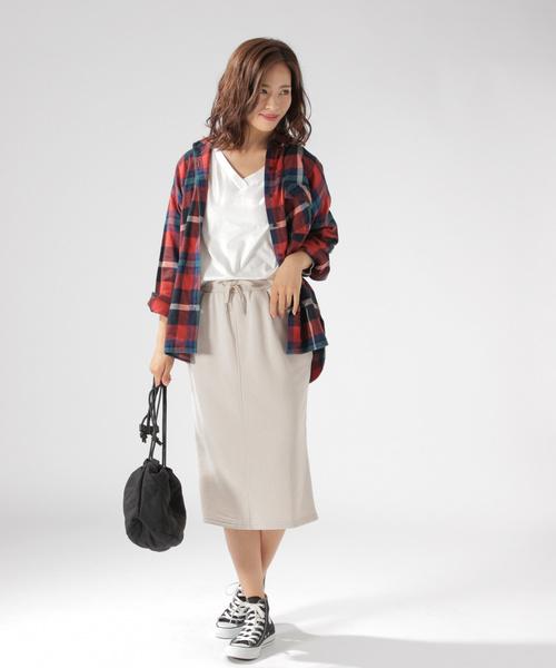 リブニットタイトスカート2