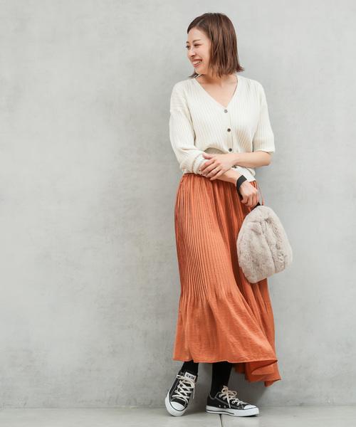[CIAOPANIC TYPY] 【2WAY】ヴィンテージサテンプリーツスカート