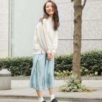 プリーツスカートもカラーで新鮮見え♡ちょっぴり春が香るコーデ15選