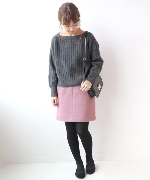 メルトン台形スカート