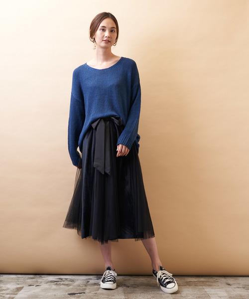 [Auntie Rosa] 【Holiday】ベロアパネルチュールスカート