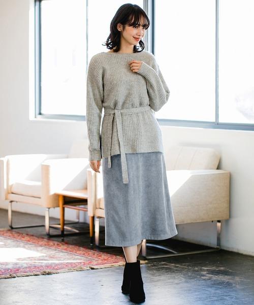 [apart by lowrys] FスエードAラインスカート