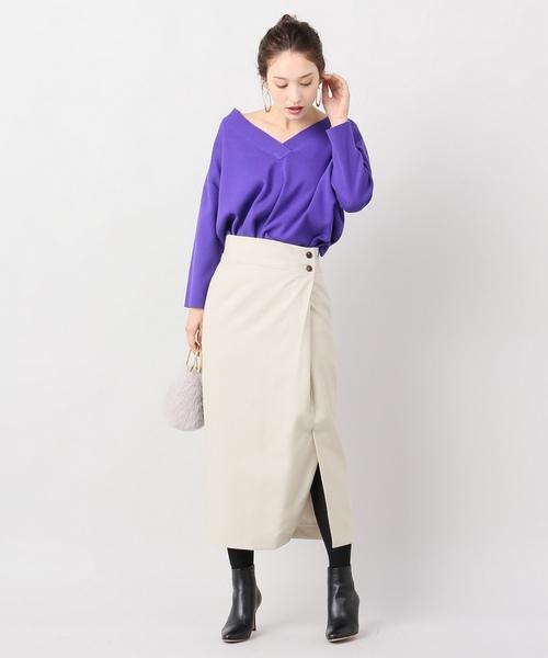 ラップフウタイトスカート