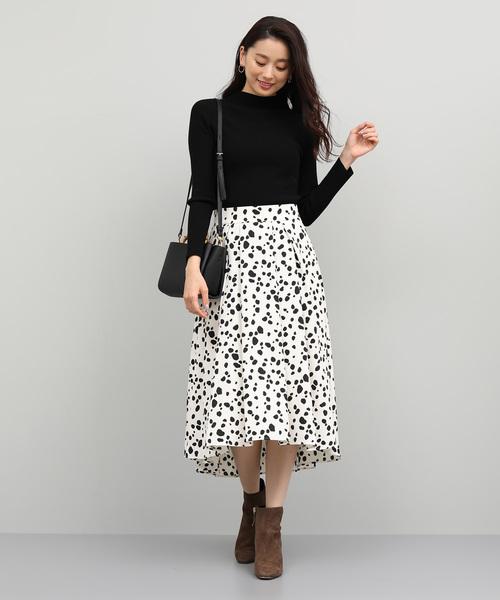 ダルメシアンプリントスカート