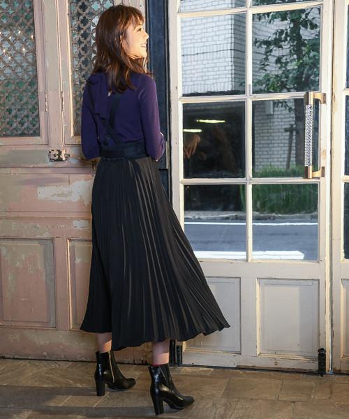 [Andemiu] 【WEB限定】サスペンダーツキプリーツスカート819346