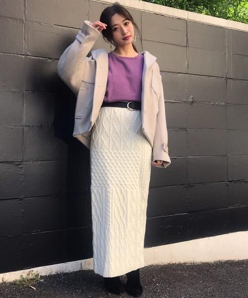 アランニットタイトスカート