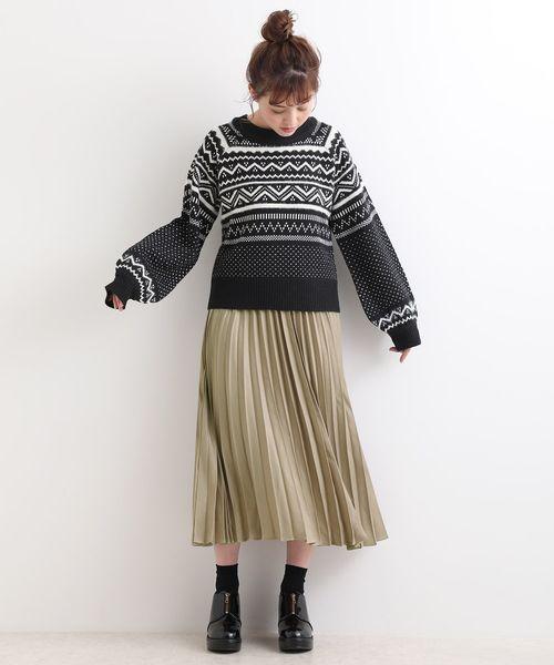 ウエストフリルプリーツスカート