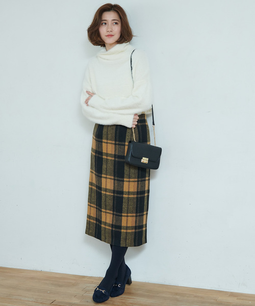 [ROPE' PICNIC] 【WEB限定】チェックタイトスカート
