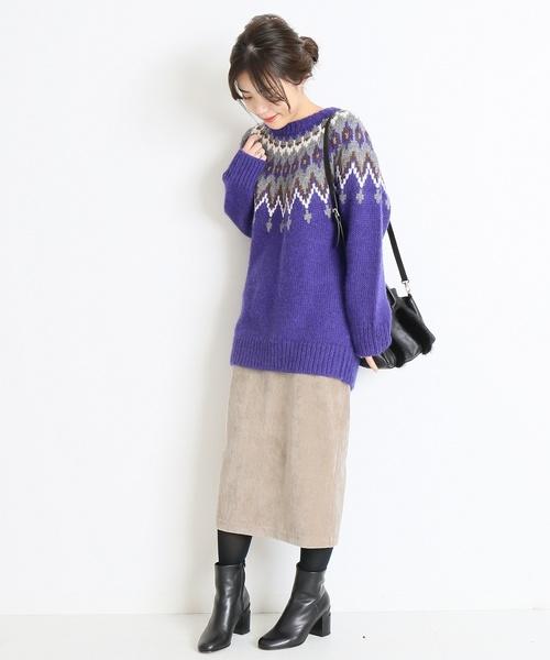 ウールカシミヤWポケットタイトスカート