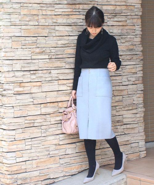 [12Twelve Agenda] ウール両ポケタイトスカート