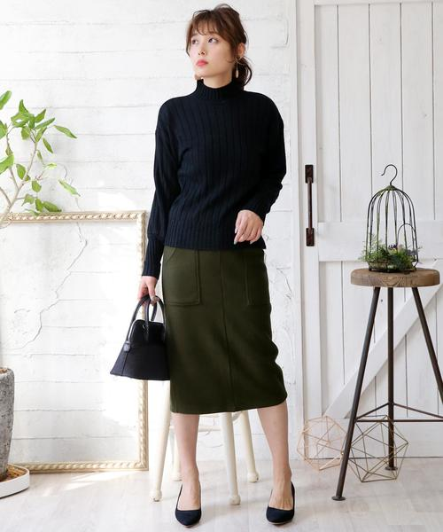 ペンシルスリットスカート(選べる丈2TYPE)